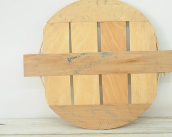 Vintage Split Wood Bushel Basket Lid Apple Basket Lid Primitive
