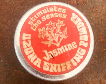 Vintage Ozona Sniffing Powder Tin