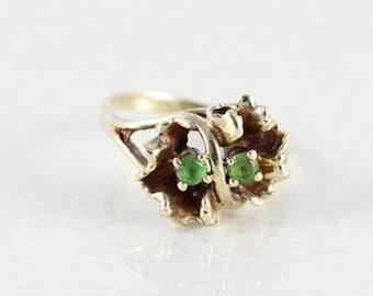 Peridot Ring 10k Yellow Gold Peridot Ring Size 6 1/4