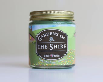Gardens of the Shire -- Lord of the Rings Inspired-- Soy Candle (4 oz.)
