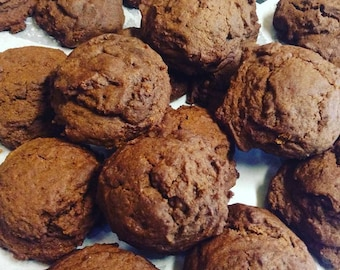 Low Sodium Molasses Cookies (salt-free!) 1 dozen.  Can also be made with gluten free ingredients or dairy free