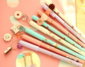 Cute Hello Kitty Pens with Charm