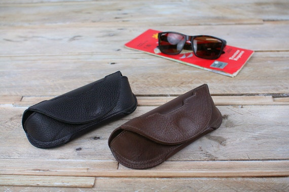 Leather Spectacles Case, Eyelasses Case, Sunglasses pouch, specs case, glasses pouch, driving glasses (Art Deco style)