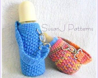 Crochet Pattern - Baby Bottle Cozy