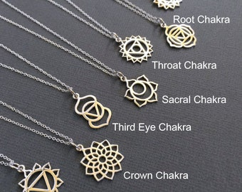 7 Chakra Sterling Silver Charm Necklace