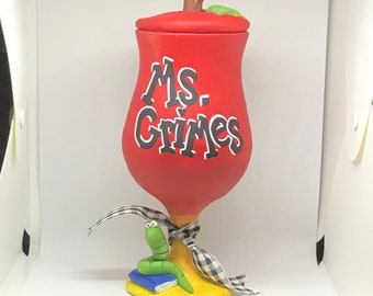 Teacher appreciation gift | Teacher gift | end of the year gift | candy jar | goodie jar |