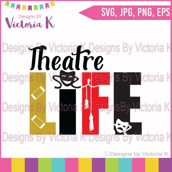 Theatre Life Music Acting Singing Performing Svg Png