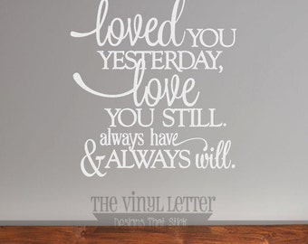 Loved You Yesterday Love You Still Large Glass Block Light