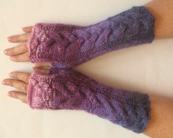 Fingerless Gloves Violet Purple wrist warmers