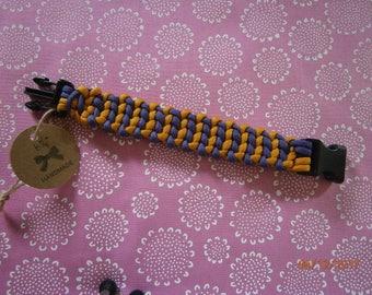 Purple/Gold Wide Bracelet