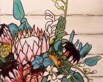 Original watercolor painting 10/100