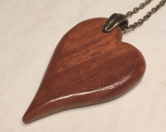 Personalized Necklace, Personalized Jewelry, Heart Pendant, Mothers Day, Wood Jewelry, Wood Necklace, Wooden Pendant, Wood Heart Pendant