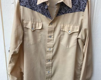 Vintage Sears Western Wear LS Large button down shirt