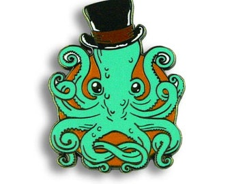 Gentleman Octopus - Enamel Pin