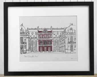 Versailles Palace, France doodle print