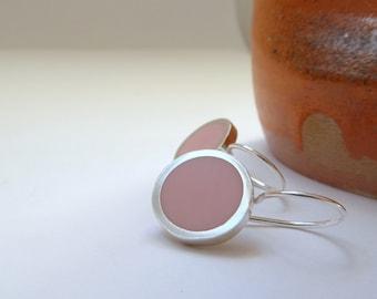 Pink Earrings -  Pale Pink Drop Earrings - Pastel Pink Jewellery - Birthday Gift for a Friend - Pop Drop Earrings