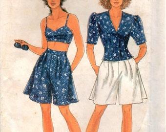 Vintage UNCUT Simplicity Pattern 7663 - Misses Summer Coordinates - Sizes 8-20