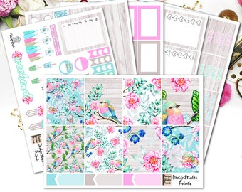 Spring season Weekly kit/Planner Stickers for Erin Condren Lifeplanner/Spring Planner Stickers/Pastel Spring Floral Weekly kit
