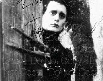 Edward Scissorhands signed Johnny Depp Tim Burton 8X10 photo picture autograph poster RP