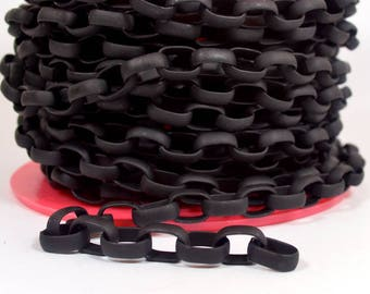 Large Oval Rolo Chain - CH135 - Matte Midnight Black - Choose Your Length