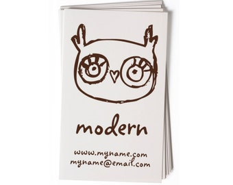 Business Card Stamp   Custom Rubber Stamp   Custom Stamp   Personalized Stamp   Owl Stamp   Bird Stamp   BC43
