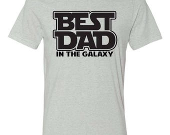 Best Dad in the Galaxy Triblend Tee