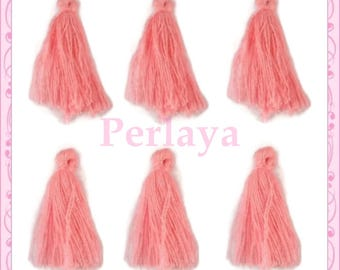 Set of 20 tassels peach REF2526 3cm