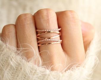 Rose gold rings Etsy