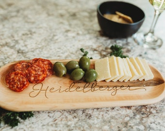 Personalized Appetizer Tray - Custom Serving Board - Cheese Board - Hostess Gift - Hors Doeuvres Plate - S0002