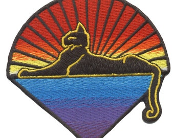 Jerry Garcia Patch- Cats Down Under the Stars-100% Embroidered Iron On patch