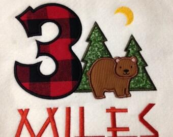 Lumberjack Birthday Shirt