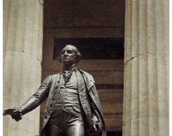 New York City Photography-Washington Statue at Federal Hall 8 x 10 fine art print-Home Office Decor- Wall Art-Home Decor-Wall Street-U.S.A.