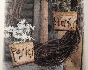Pattern: Herbs and Posies Punch Needle created by Notforgotten Farm