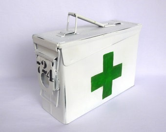 MEDICINE STORAGE CONTAINER/ Upcycled Ammo Box