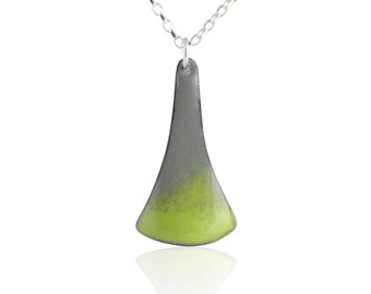 Splash Green Enamel Necklace