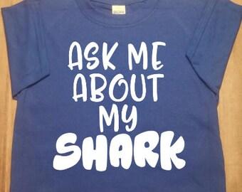 Ask Me About My Shirt, Kids Shark Shirt, Boys Shark Shirt, Girls Shark Shirt, Kids Funny Shark Shirt, Boys Shark Birthday, Boys Funny Shirt