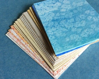 SALE!  mix of 25 handpainted  ATC card backgrounds -upcycled & textured- for your small art /ACEOs