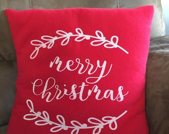 Christmas Pillow Cover. Merry Christmas. Pillow Cover. Throw Pillow
