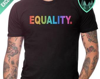 Official Rainbow Equality Shirt, Equality. Shirt, Equal Rights Shirt, Equality T-Shirt, Political Shirt, Empowerment Shirt, Pride Shirt