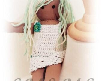 Miss vanilla mint rag doll