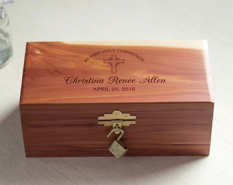 Personalized First Communion Keepsake Box: Personalized First Communion Gift, First Communion Keepsake Box, 1st Communion Gift, SHIPS FAST