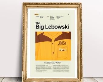 The Big Lebowski Mid-Century Modern Inspired Print