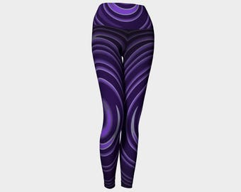 Purple Swirl Yoga Leggings