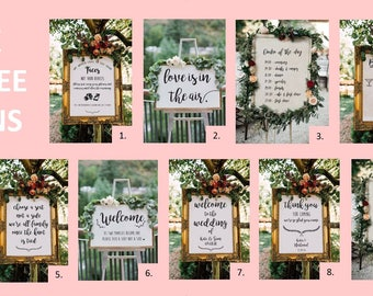 SPECIAL OFFER - 10% off when you buy 3 personalised wedding signs