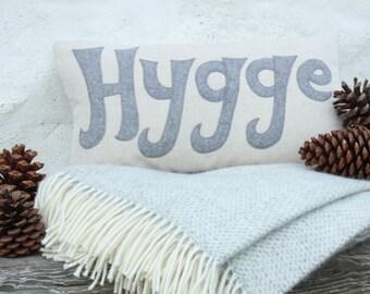 Handmade Hygge cushion in grey wool