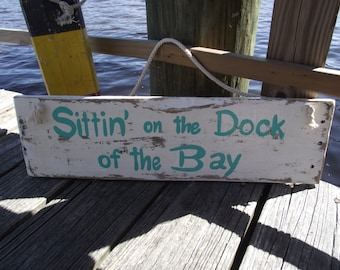 Nautical hand-painted sign | Dock of the bay sign | Waterfront sign | Lake house sign | Dock pallet sign | Beach home sign | Lake home sign