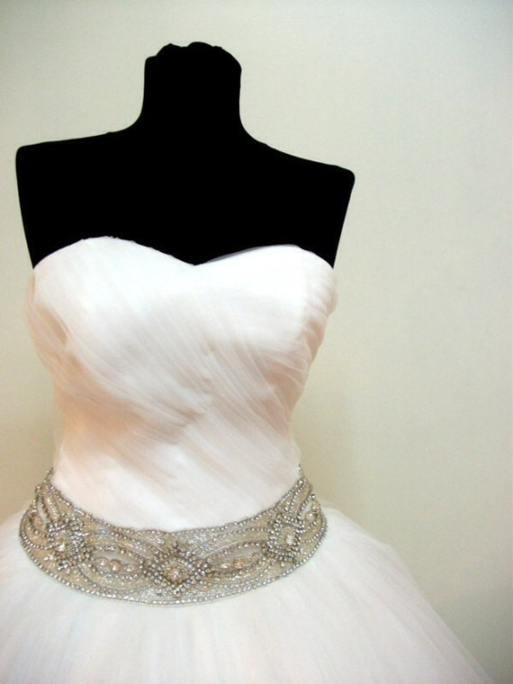 2016 Rushed wedding dress without sash ball gown skirt only