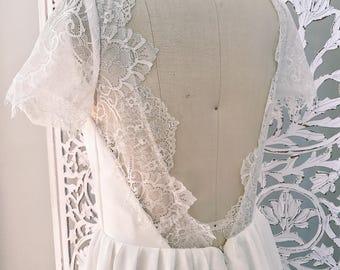 SALE /Bohemian Wedding Dress / Beach Boho Dress / Made to measure / Hippie Bohemian Romantic