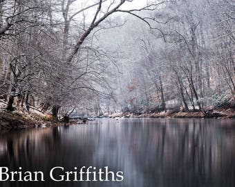 Snowy River Print - Bull Run, Virginia, Nature Wall Art, Fine Art Decor