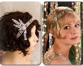 Flapper Headband Great Gatsby Headband Daisy Buchanan Costume Great Gatsby Costume 1920's Headband